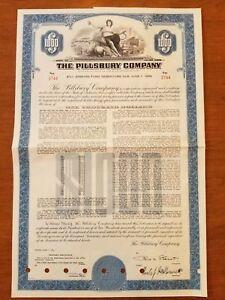1961-Pillsbury-Company-Bond-Stock-Certificate