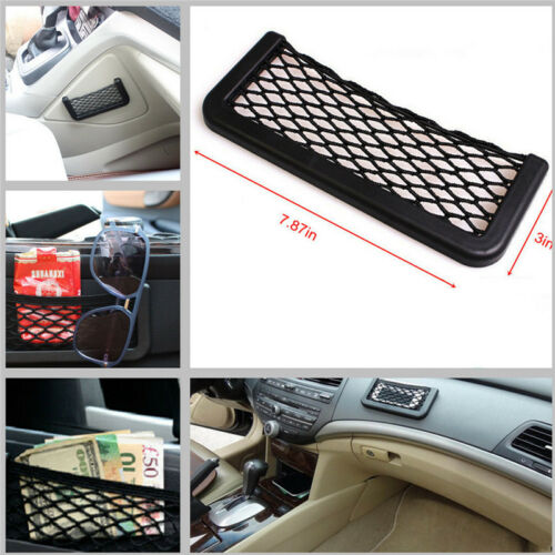 Car 7.5in Storage Mesh Net Resilient String Phone Key String Bag Holder Organize