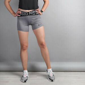 49d885309720 Nike Ladies Pro 5 Inch Grey Crossover Tight Fit Short - AH8768 036 ...