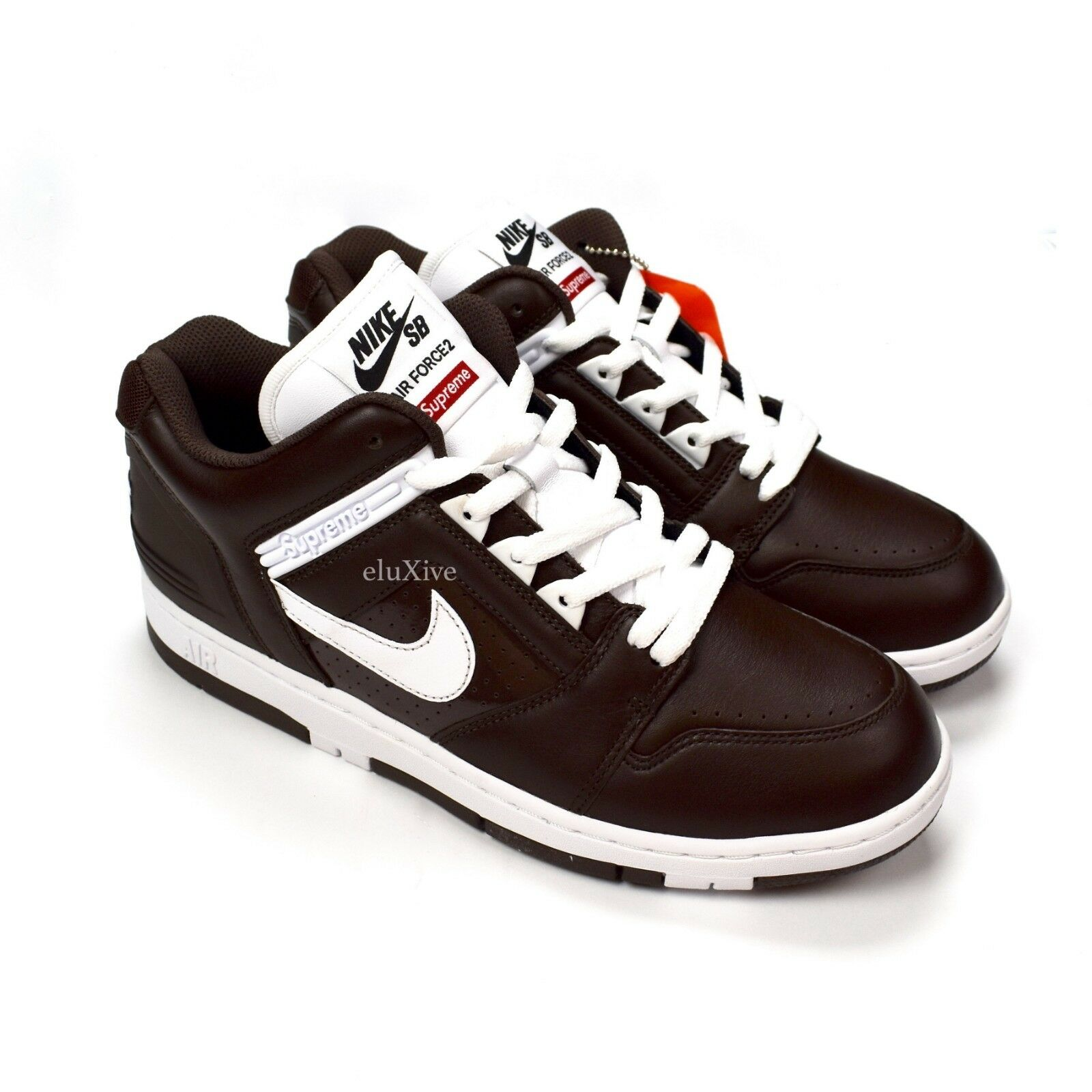 NWT Supreme Nike SB Air Force 2 AF2 Low Baroque Brown Sneaker 10 FW17 AUTHENTIC