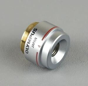 à Condition De Olympus Microscope Objectif E A4 Ea4 0.10 160/-, 4x, Neuf-afficher Le Titre D'origine