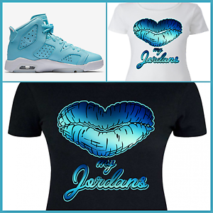 save off aa674 1a1a0 Details about LADIES / WOMENS TEE/SHIRT to match AIR JORDAN 6 STILL PANTONE  or LEGEND BLUES!