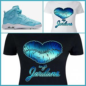 save off 616d8 fb505 Details about LADIES / WOMENS TEE/SHIRT to match AIR JORDAN 6 STILL PANTONE  or LEGEND BLUES!