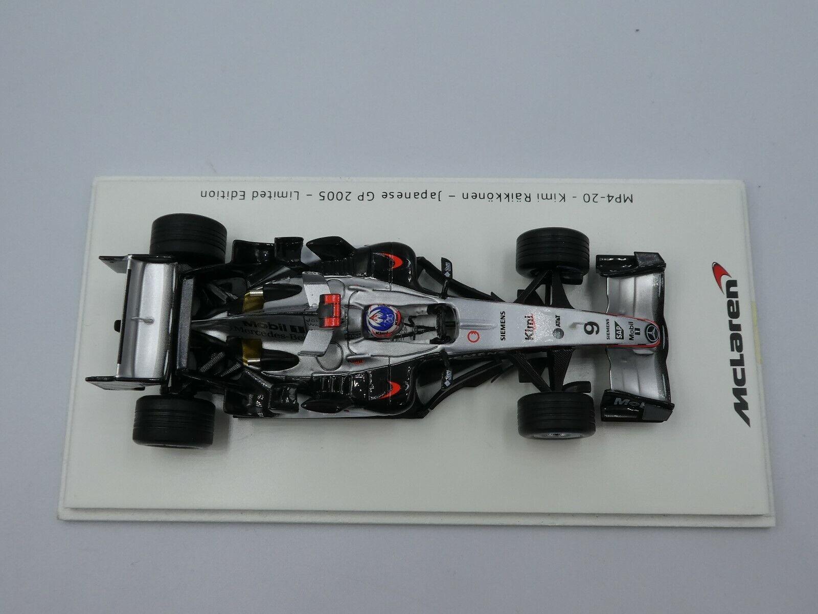 Spark 1 43 Kimi Raikkonen Mclaren MP4-20 japonés GP 2005 equipo McLaren Caja