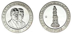 2000-SILVER-PESETAS-PLATA-CASTELLERS-1990-OLIMPIADA-BARCELONA-1992-UNC-SC