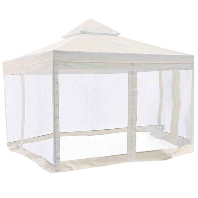 10x10u0027 Gazebo Top Canopy Replacement Patio Pavilion Sunshade Cover Mosquito  Net