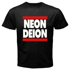 buy popular 8bc88 19dbd Details about Neon Deion Sanders Primetime Atlanta Men's Black T-Shirt Size  S M L XL 2XL 3XL