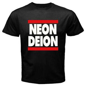 buy popular f5276 69bfd Details about Neon Deion Sanders Primetime Atlanta Men's Black T-Shirt Size  S M L XL 2XL 3XL