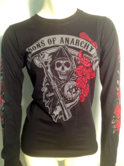 AUTHENTIC SONS OF ANARCHY REAPER ROSES SOA JUNIORS GIRLS T SHIRT S M L XL XXL