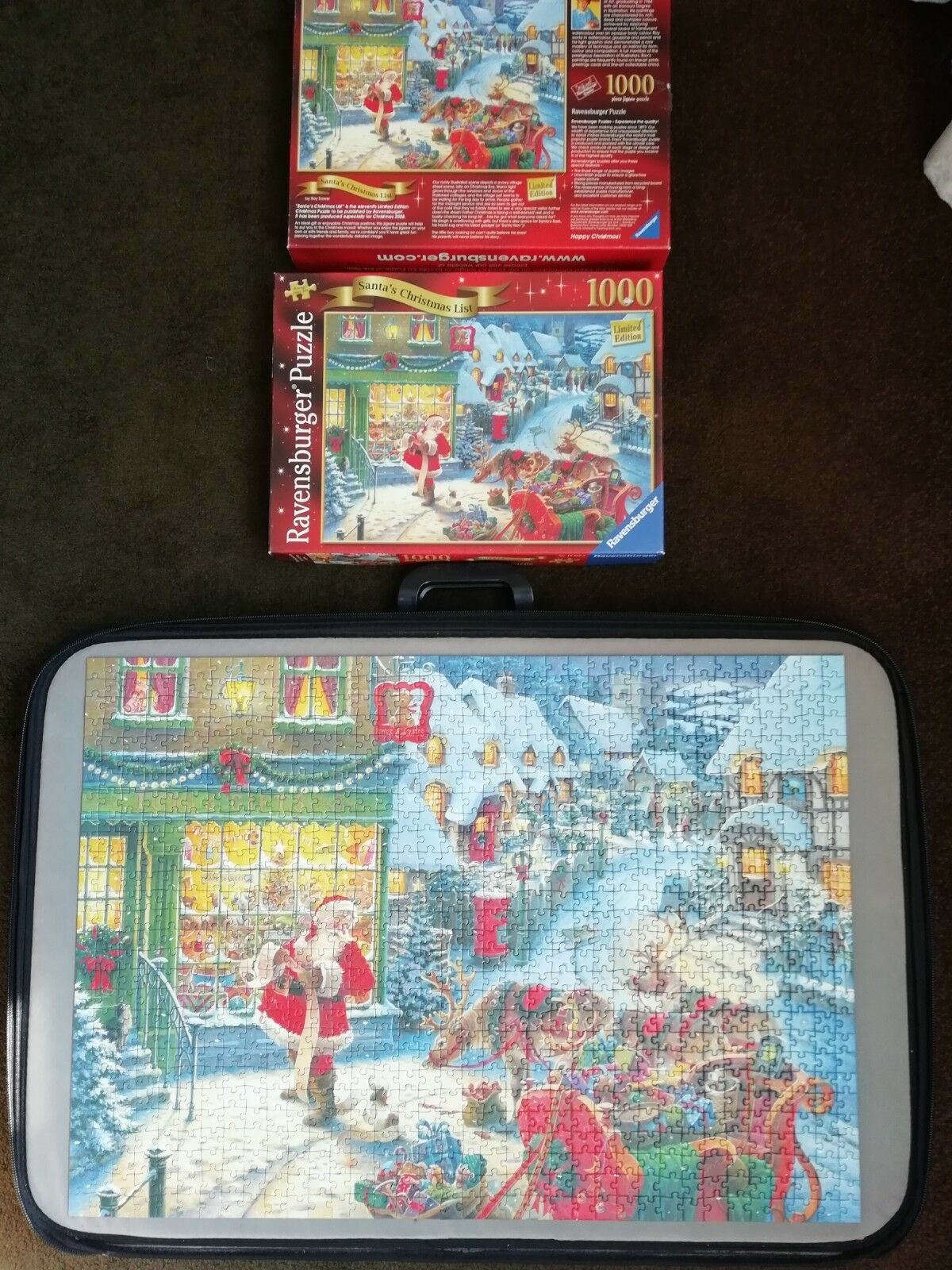 Ravensburger 1000 Piece Jigsaw Puzzle Santa's Christmas List ltd edition mint