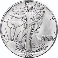 1987 -Stati Uniti Liberty Eagle $1 UN DOLLARO ARGENTO 1oz Silver