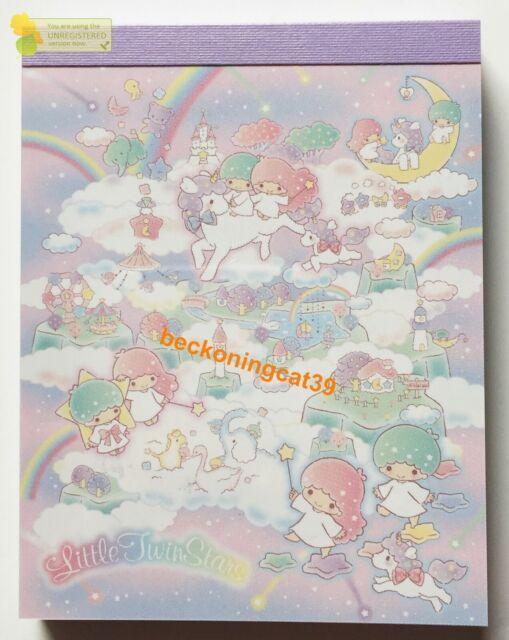 Lovely Sanrio Character Little Twin Stars Kiki Lala Mini Memo Pad MADE IN JAPAN