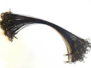100-LURE-WIRE-TRACES-spinning-pike-fishing-swivel-TRADE