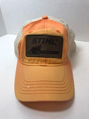 New Officially Licensed Stihl Chainsaw Neon Yellow Mesh Cap Truckers Hat