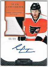 2011-12 DOMINION ROOKIE AUTOGRAPH PATCH # 195 SEAN COUTURIER 66/99 !! 2 COLOR