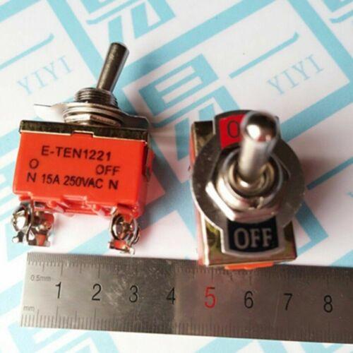 DPST 4 Schraubklemmen 2 Position Ein//Aus Kippschalter Schalter Umschalter 2tlg
