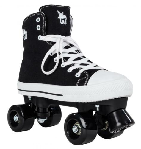 ROOKIE ROLLERSKATES CANVAS BLACK QUAD ROLLER SKATES FREE DELIVERY!