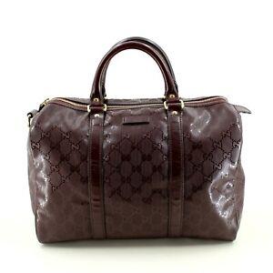 Authentisch-Gucci-Guccissima-Speedy-30-BOSTON-Tote-Bag-in-Braun-Uvp-1-200