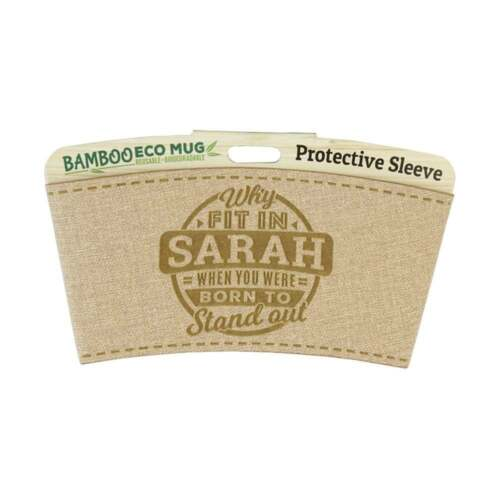 History /& Heraldry Bamboo Eco Mug Name Wrap Sarah 225010541