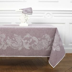 FRANCE-YVES-DELORME-GOURMET-LINEN-COTTON-TABLECLOTH-MATCHING-NAPKINS