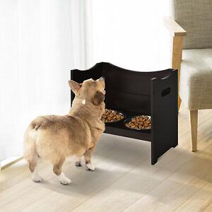 Raised Elevated Pet Bowls Stainless Steel Bowl Adjustable Dog Bowl Platform