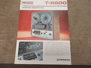 Pioneer-T-6600-4-channel-Reel-to-reel-Tape-Deck-Original-Catalogue