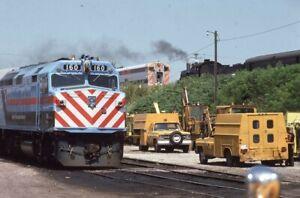 RTA-Railroad-Steam-Locomotive-160-KENOSHA-WI-Original-1985-Photo-Slide