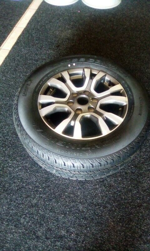 "18"" Ford Ranger Wildtrack mag with brand new 265/60/18 Continental to use for spare R3250"