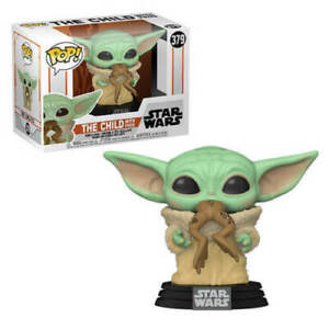 "STAR WARS THE MANDALORIAN THE CHILD WITH FROG 3.75"" POP VINYL FUNKO BABY YODA"