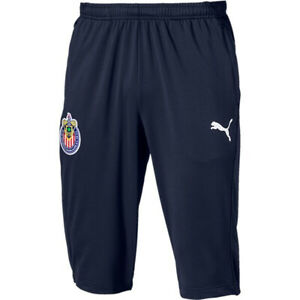 PUMA-Men-039-s-Chivas-de-Guadalajara-19-20-3-4-Training-Pants-Navy-753668-01