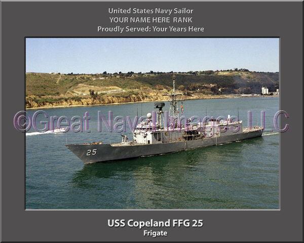 USS Copeland FFG 25 Personalized Canvas Ship Photo Print Navy Veteran Gift