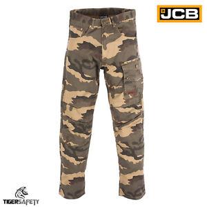Jcb-Camo-camuflaje-de-Carga-de-combate-Multi-Bolsillo-Trabajo-Pesado-deber-Pantalones-Pantalones