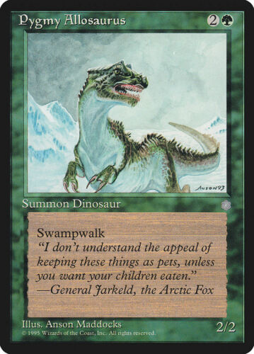 Moderate Play FREE US SHIPPING! Ice Age MTG X4: Pygmy Allosaurus R