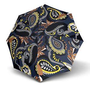 Kleidung & Accessoires Regenschirme Knirps T.703 Stick Automatic Regenschirm Romy Sand Blau Grau Neu