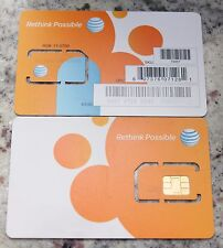AT&T 4g Standard Size SIM Card Unactivated Replacement SKU 40952