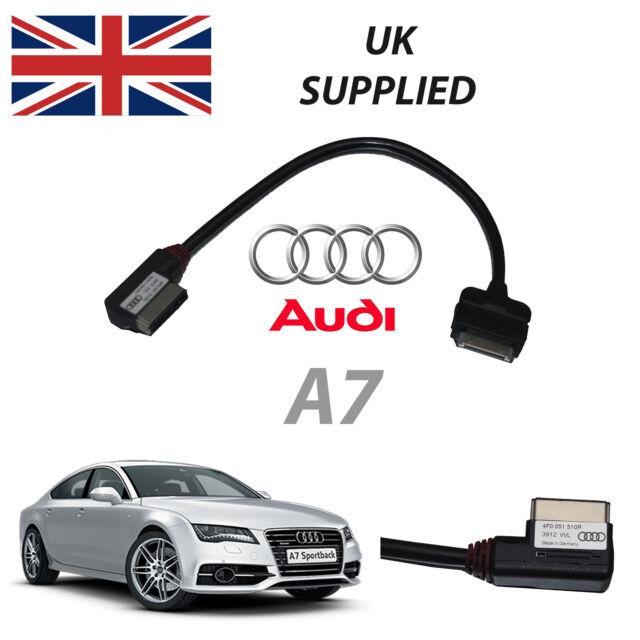 Audi A7 2011-2014 Amm Mmi 4F0051510R Iphone Ipod Audio e Cavo Video (Rosso)