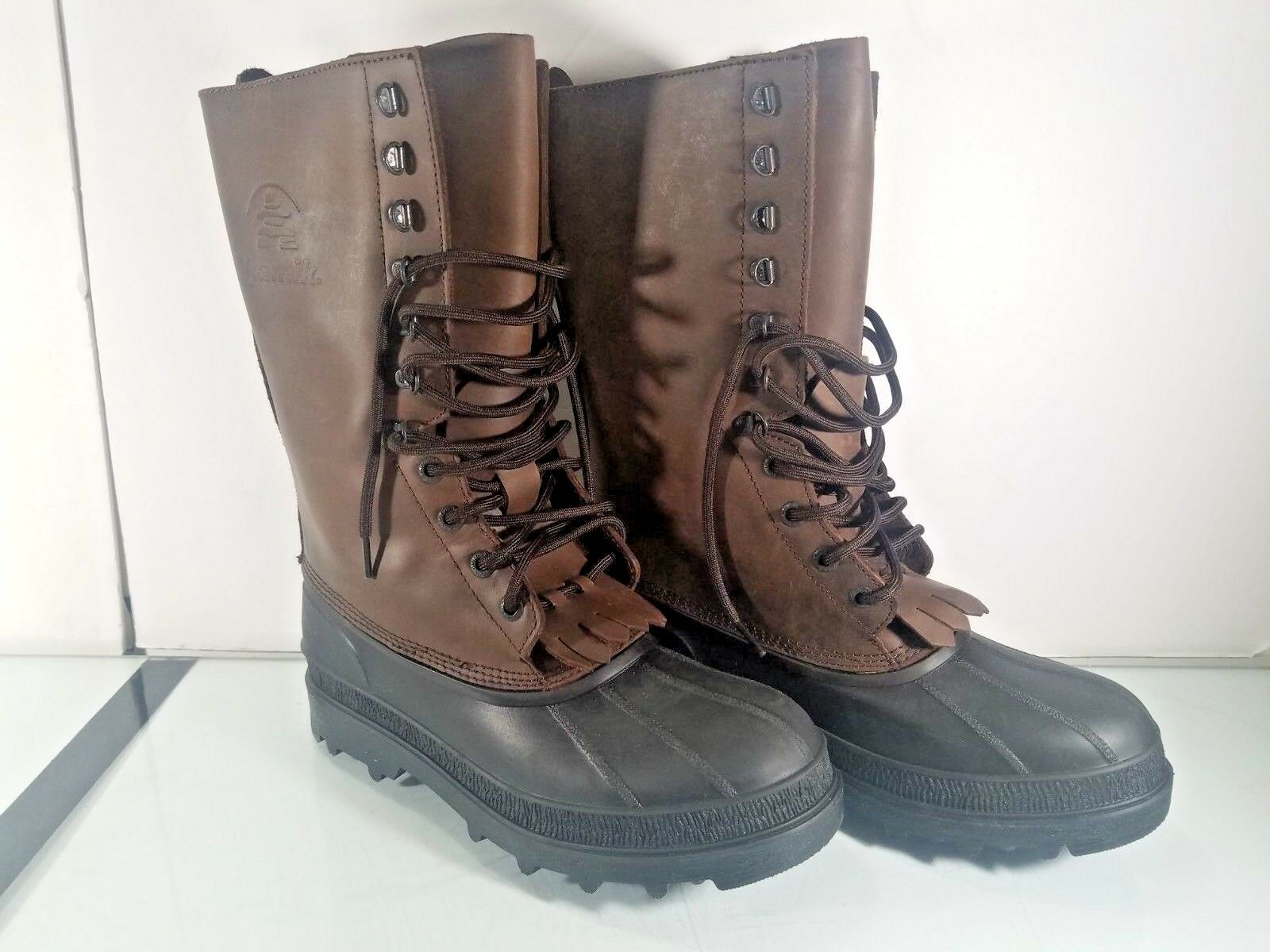 Kamik Men Cold Weather Boot shoes Winter Leather Gaucho Brown 9 M US
