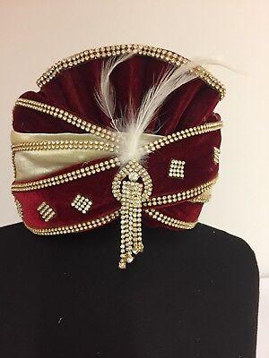 Herren Kopfbedeckung Turban Pagdi Mukut Maharaja Einheit Gr. Neu Online Shop