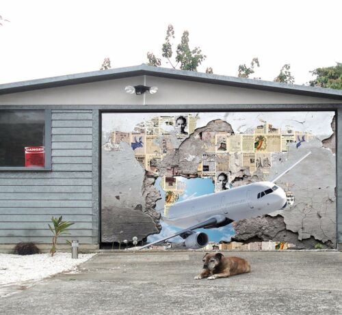 3D Aircraft 12 Garage Door Murals Wall Print Decal Wall Deco AJ WALLPAPER UK