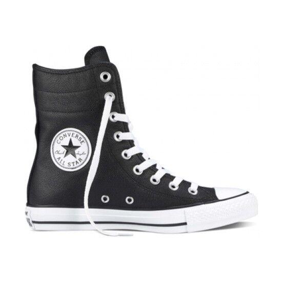 Converse Para Mujeres Chuck Chuck Chuck Taylor Hi-Rise De Cuero Negro blancoo 549704c 10   Raro  Tienda de moda y compras online.
