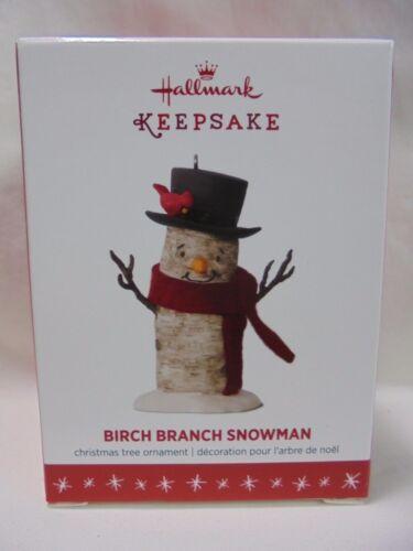 2016 Hallmark Keepsake Ornament Birch Branch Snowman B5
