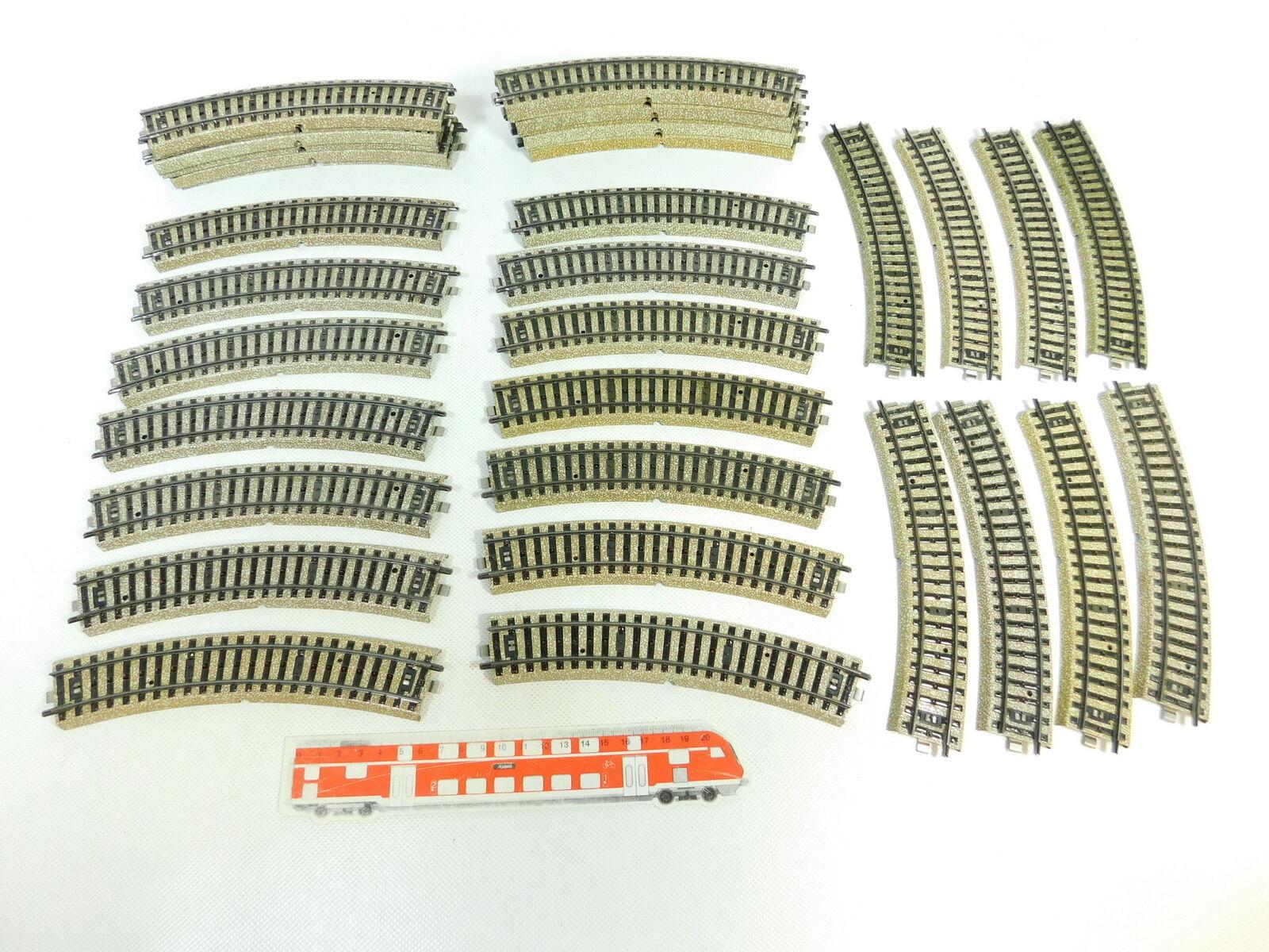 BP941-2 x Märklin H0   Ac 5100 Piezas de vía   Carril Curvo M PISTA