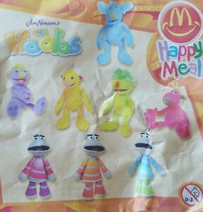 McDonalds-Happy-Meal-Toy-2003-Jim-Henson-Hoobs-Motorettes-Soft-Toys-Various