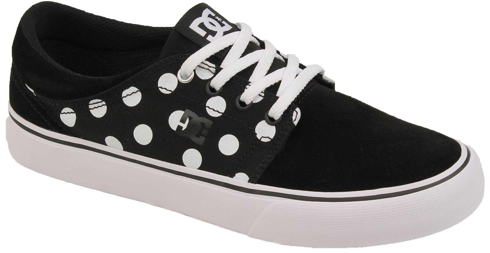 DC Women's Trase SE shoes - Black     White Print - New 10c360
