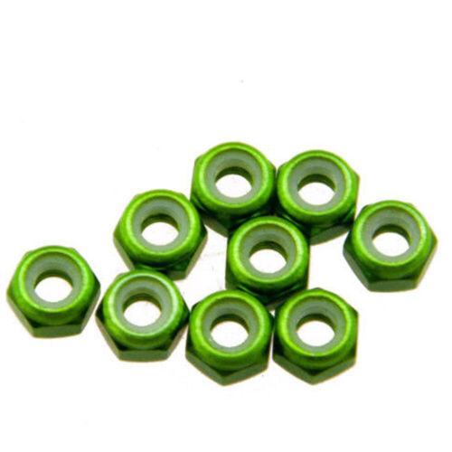10pcs M2 M3 M4 M5 Nylon Insert Self-Lock Nuts Hex Lock Nut Aluminum Oxide Nuts