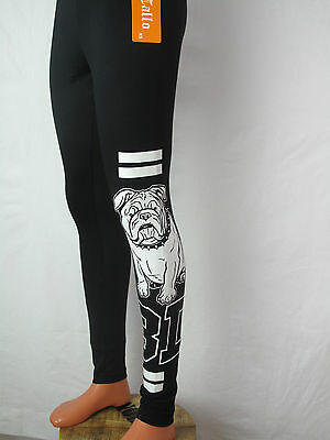 Leggings XS-XL mit Bully engl  Bulldogge Hundemotiv Sommerleggings Viskose Neu