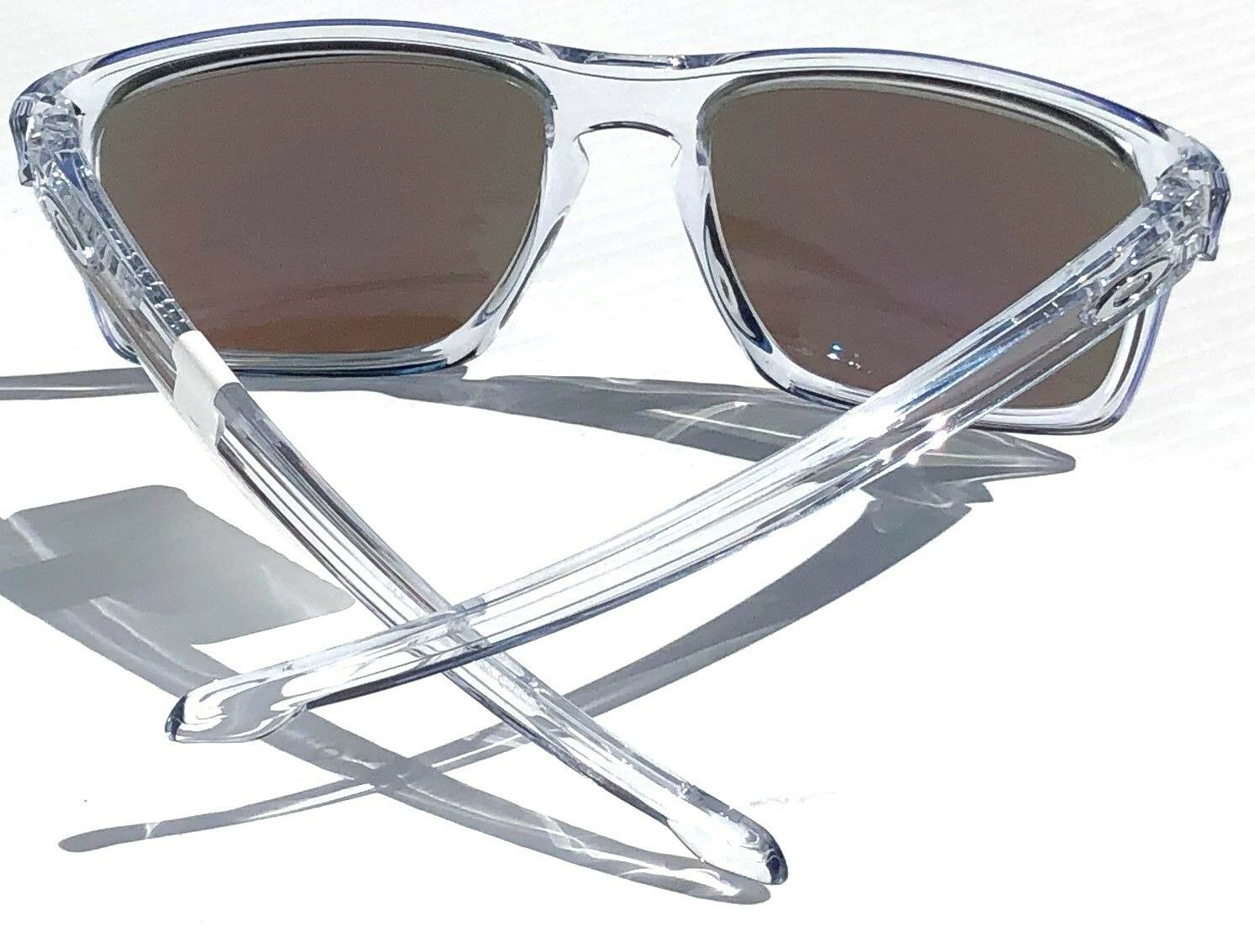 1251e8476cb Oakley Sliver Sunglasses Oo9262-06 Polished Clear W  Sapphire Iridium Lens  57mm for sale online