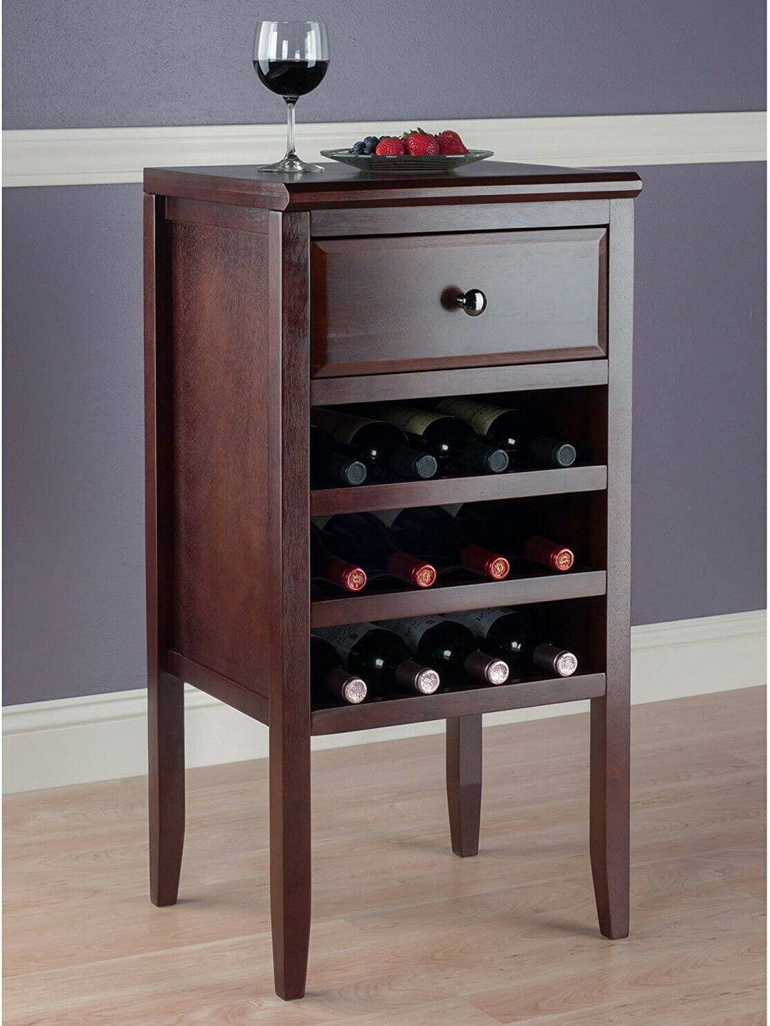 Picture of: Contemporary Brown Wine Rack Storage Buffet Table With Drawers Cabinet Furniture For Sale Online Ebay