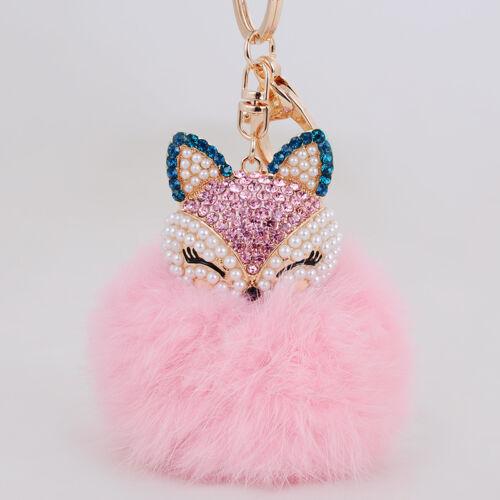 Cute Tasche Schlüssel Anhänger Fuchs Pelz Handtasche Key Chains