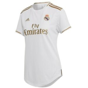 detailed look 6867d b2193 Details about adidas Real Madrid 2018 - 2019 Womens Home Soccer Jersey  Brand New White / Gold